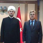 Rusya Müftüler Konseyi'nden Türk Büyükelçi'ye başsağlığı ziyareti